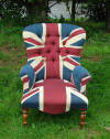 Union Jack Victorian Chair